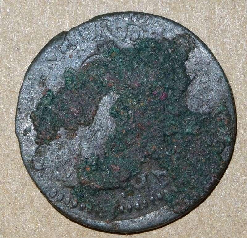 Double tournois Louis XIII 1642 type de Warin Double17