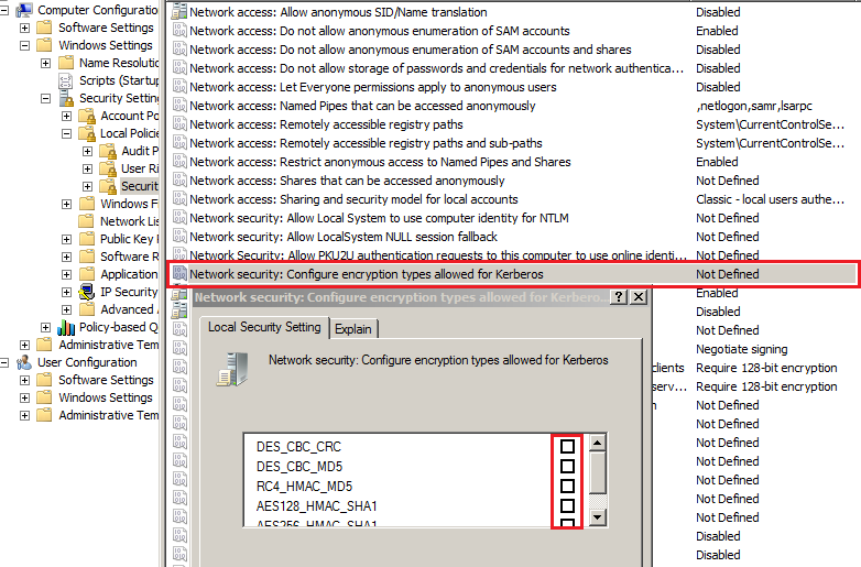 Changes in Kerberos Authentication Kerber10
