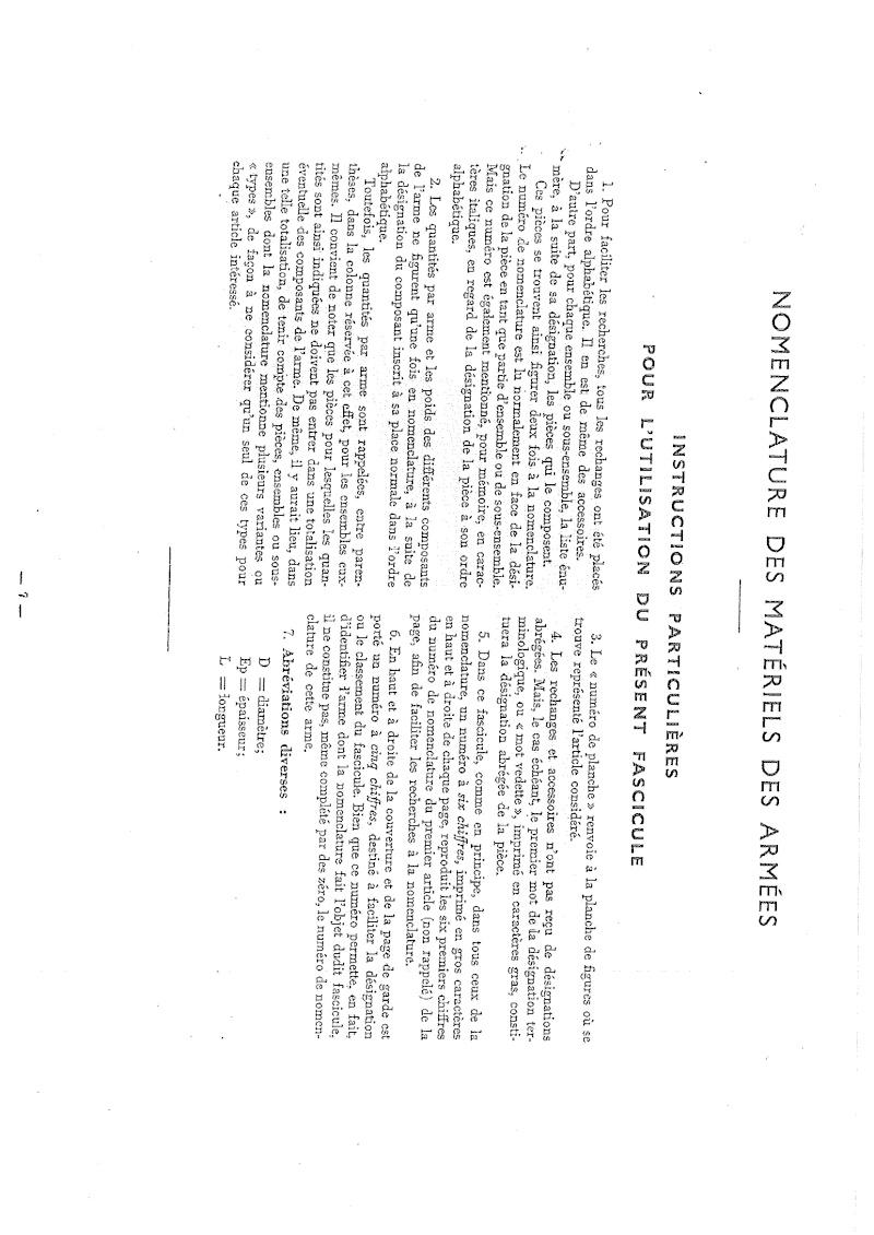 Nomenclare du luger P08 dans les armées française 1951 20140915