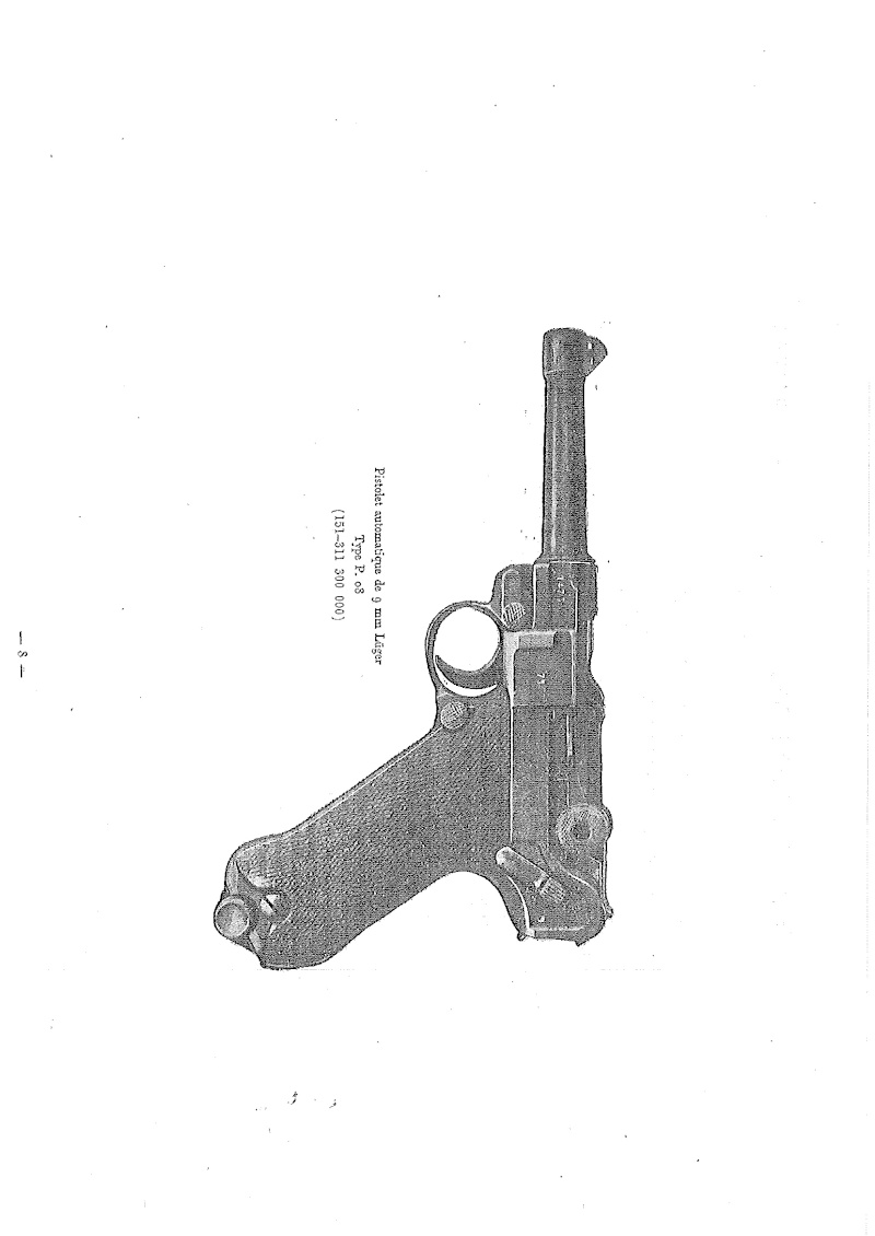 Nomenclare du luger P08 dans les armées française 1951 20140916