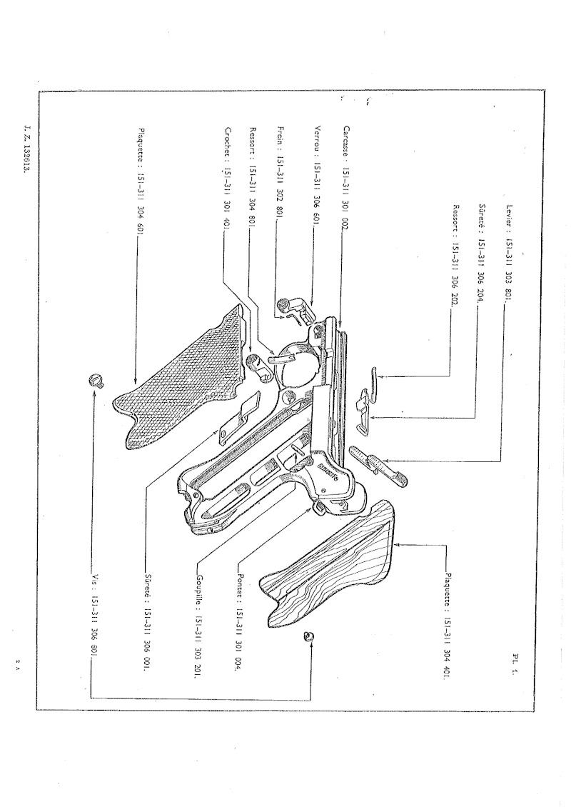Nomenclare du luger P08 dans les armées française 1951 20140921