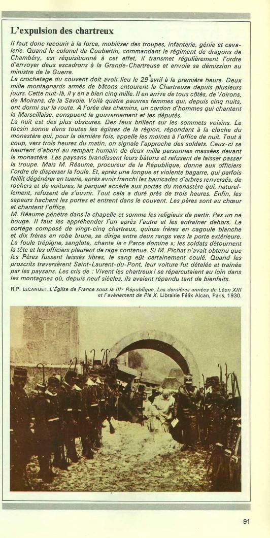 Souvenirs d'une France déchirée par la loi de 1905 Expuls10