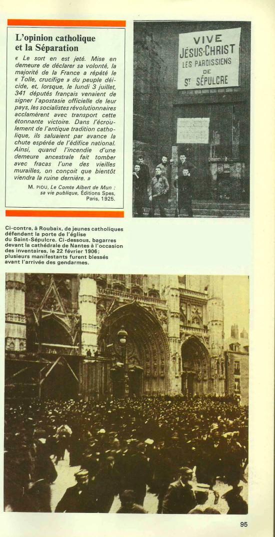 Souvenirs d'une France déchirée par la loi de 1905 Opinio10