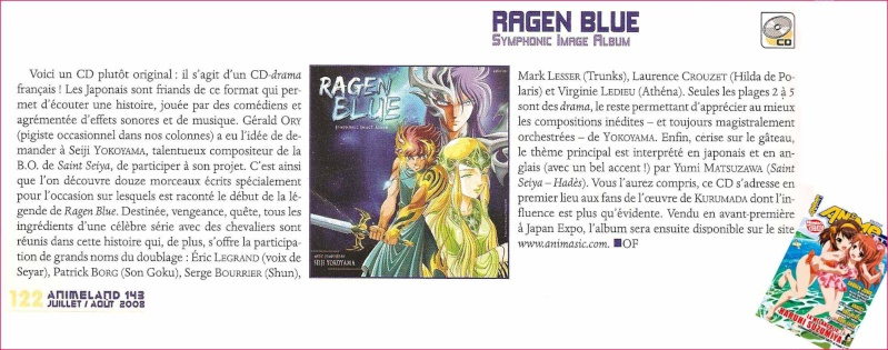 Ragen Blue : de nouvelles illustrations de Michi Himeno (Saint Seiya, Lady Oscar) Cdrage12