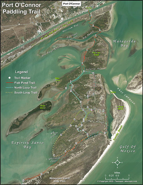 Port O'Connor Paddling Trail Map-2410