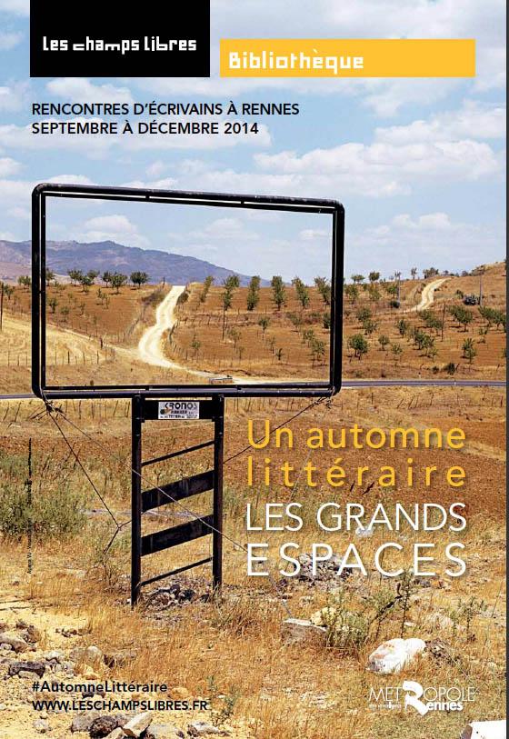 Un automne littéraire : Rendez-vous littéraires aux Champs Libres de septembre à Décembre 2014 Champs11