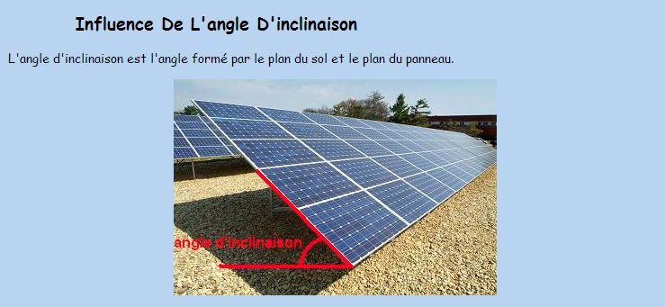 Réalisation d'un cadre photovoltaïque orientable pour injection batteries ou réseau (EDF). Angle_10