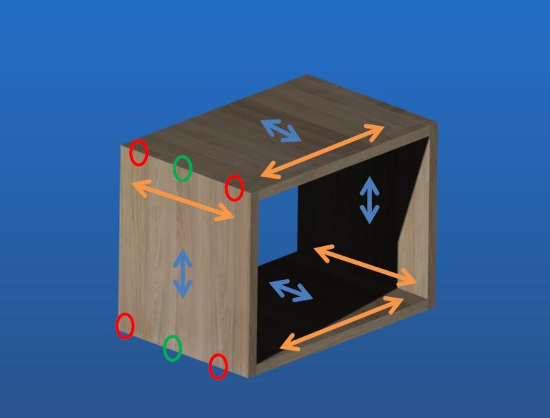 Une table de nuit hexaèdres Dyform10