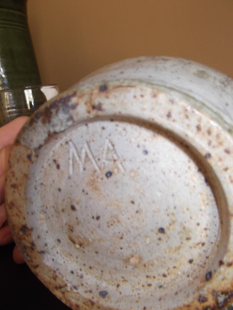 studio pottery marked MA Dscf2114