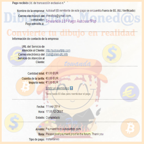 my payment number 11. Thank you Admin 11c_pa11