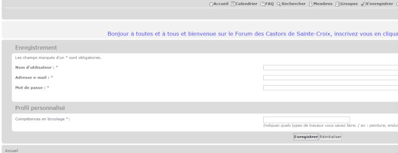 Comment s'inscrire sur le forum. Inscri12