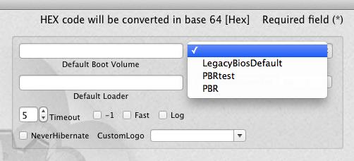 Problème de sélection d'OS au BOOT Clover Captur11