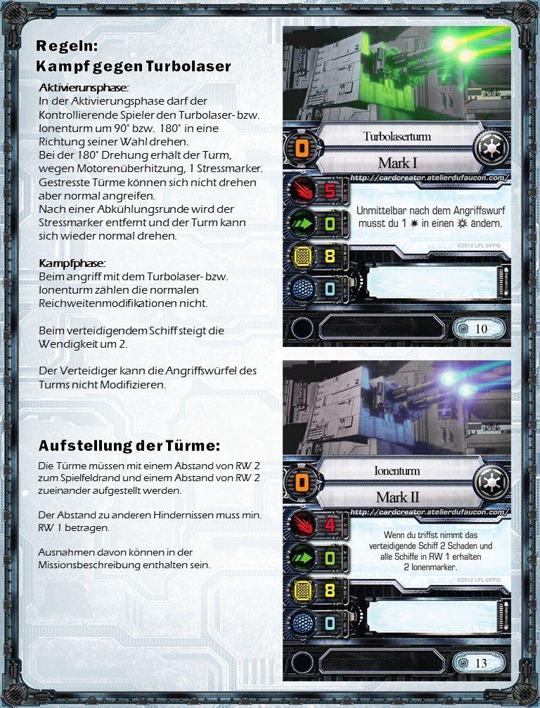 Turbolasertürme: Regeln und Werte Kampf11