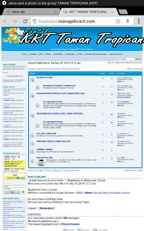 Akses portal menggunakan ipad, dsb Photo105