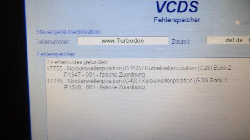Code erreur 17755 (P1347) et 17748 (P1340) 10711510