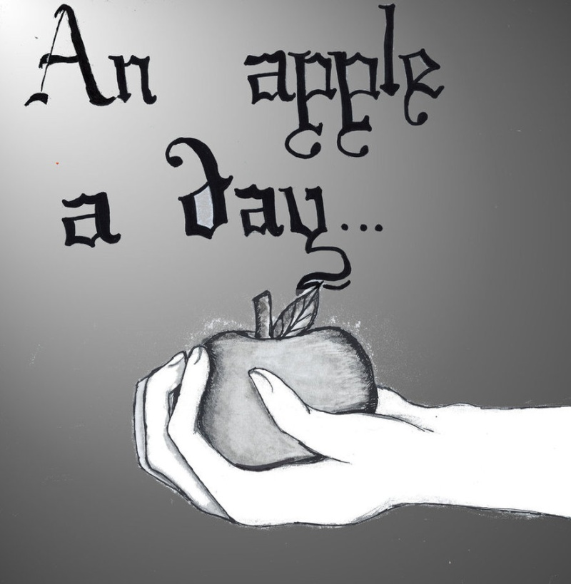 O__O -Old Drawing- (Black  And White) Apples11