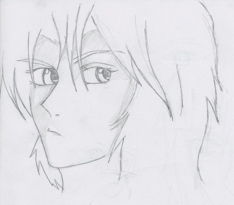 O__O -Old Drawing- (Black  And White) Kiba_s10