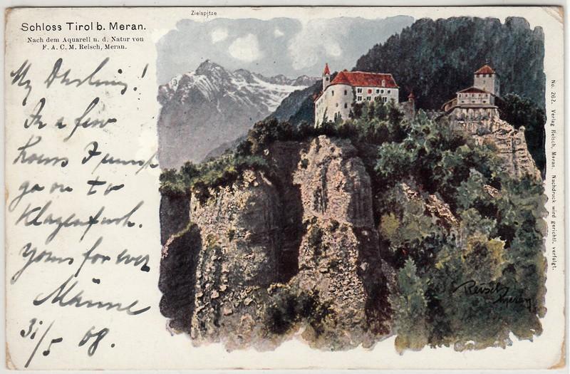 Südtirol Ansichtskarten und Schmuckumschläge Meran_20