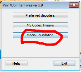 can't disable mp4 media foundation on win8 110
