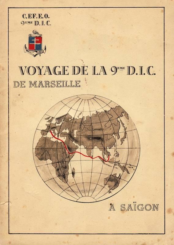 Le Voyage de la 9eme DIC de Marseille à Saigon Voyage12