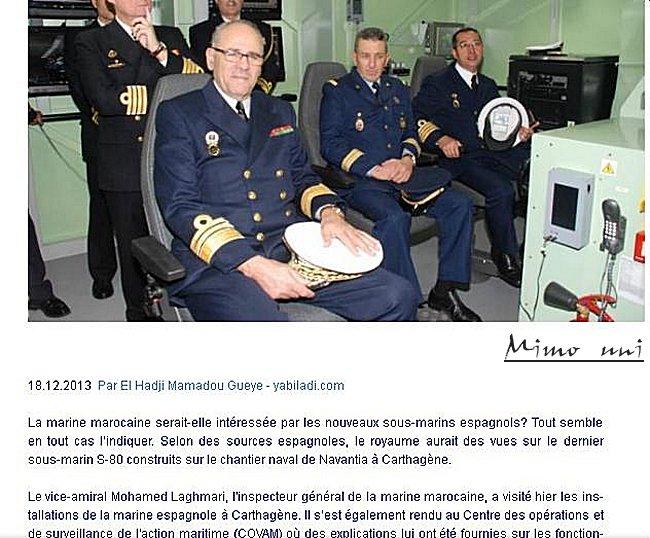 le Maroc s'interresse t il aux sous marins espagnols? Marine25