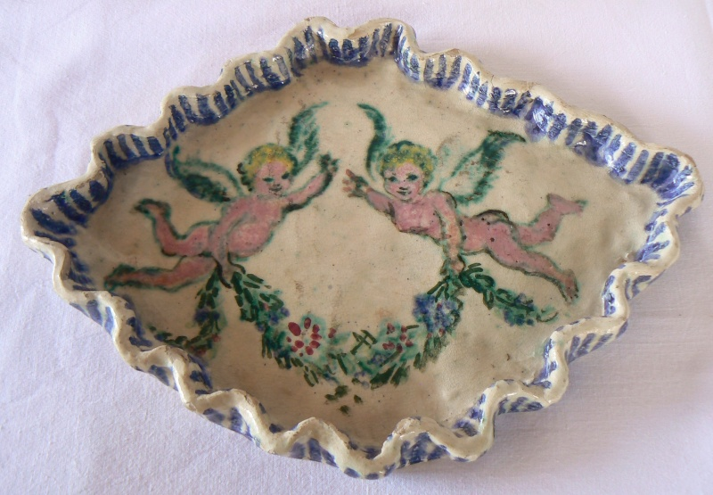 Dorothy M Morgan signed hand painted dish any info on her please? P1540141