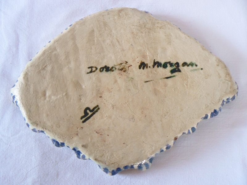 Dorothy M Morgan signed hand painted dish any info on her please? P1540142