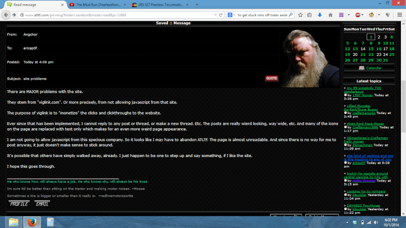 site kind of working and not is this happing to any of you  Screen10