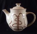 Slip Ware Teapot Marked JEM or TEM - James Mounter Callander?  Dscf2311