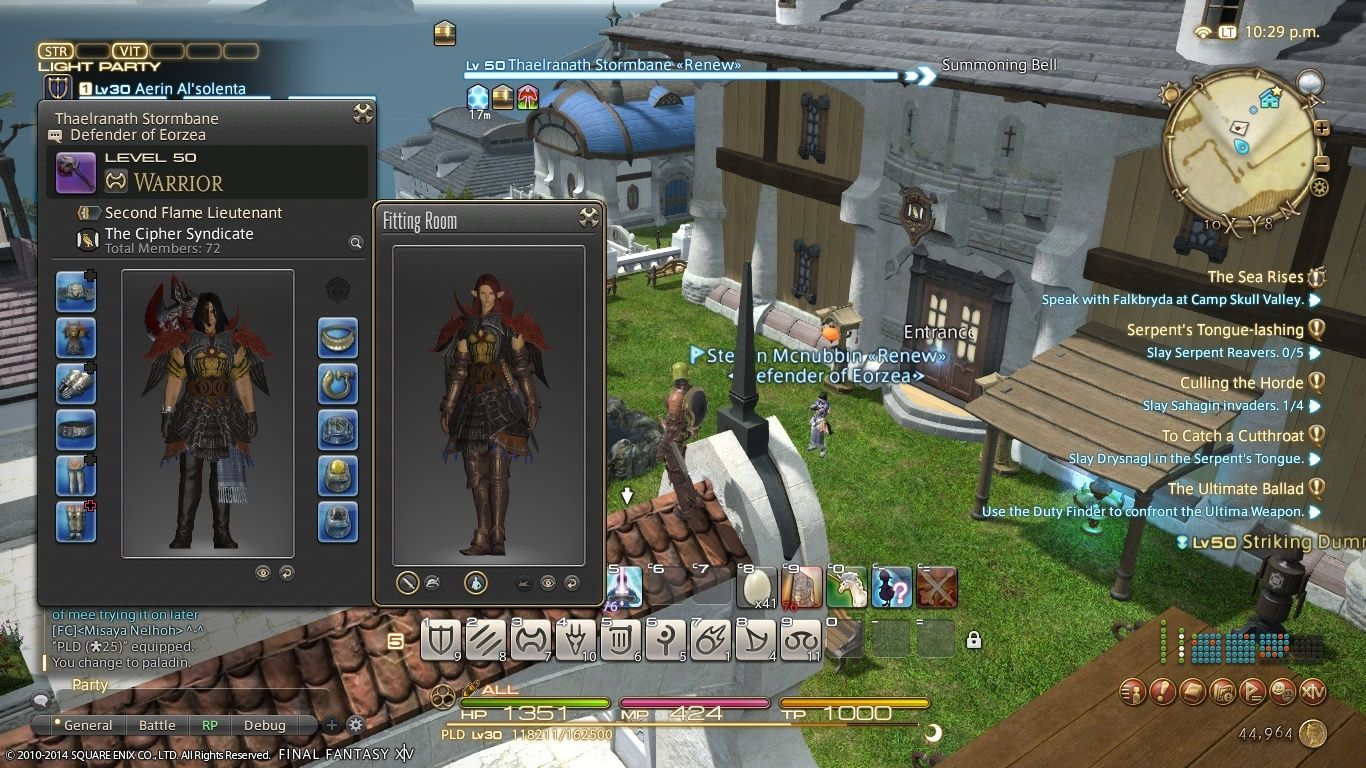 A comparison of armor on Thael and Aerin Ffxiv_10