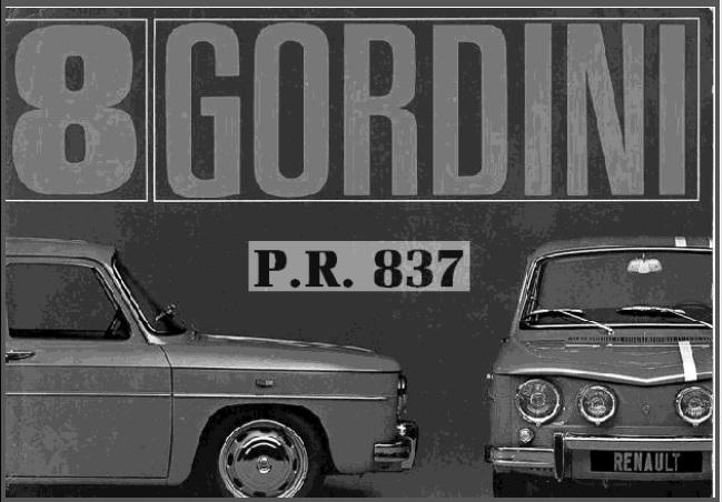 Revue technique R8 gordini R810