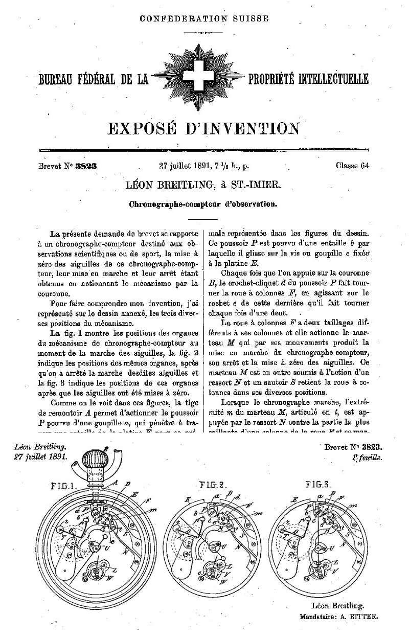 Breitling - G léon breitling chrono de 1886 Breitl20