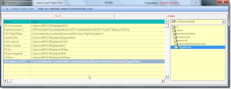 Problème de chargement des plans de vol FSCommander sur AIRBUS X Vue510