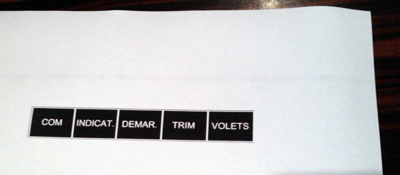 Quelles étiquettes pour votre tableau de bord? Etique10