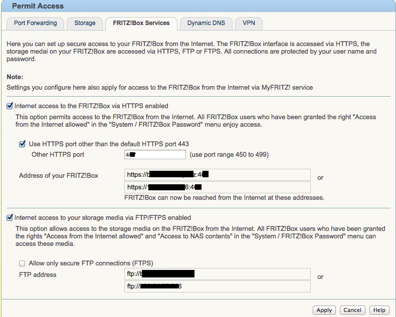 Accesso remoto al Fritz tramite provider Eolo Tinygr10