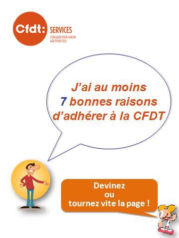 """Brochure """"Les 7 Bonnes Raisons d'Adhérer à la CFDT"""". 7raiso10"""