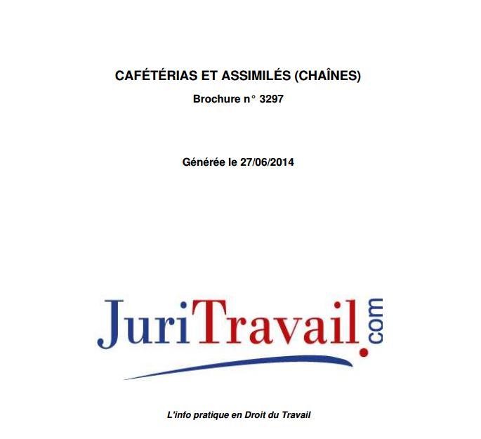 Convention collective cafétérias et assimilés Juritr10