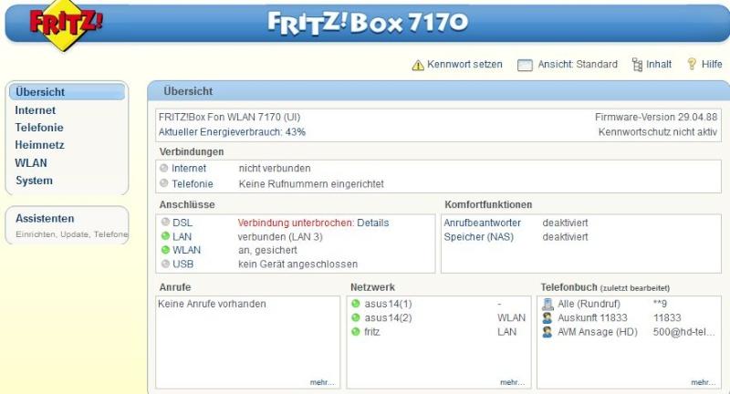 fritz box 7170 1&1 non risponde Clipbo12