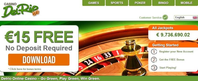 Casino Del Rio 15€ no deposit bonus