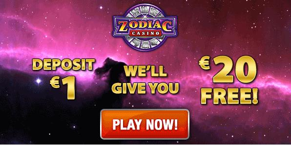 Zodiac Casino welcome bonus