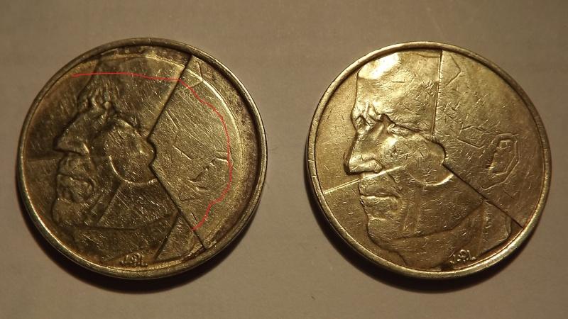 Pièce fautée. 5 francs belge 1986  Dscf3131