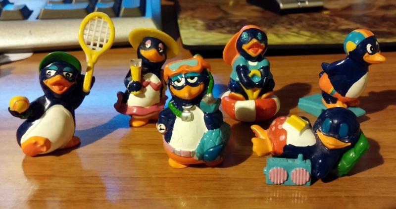 Sorprese kinder : serie anni '90 (75 personaggi) Pingui11