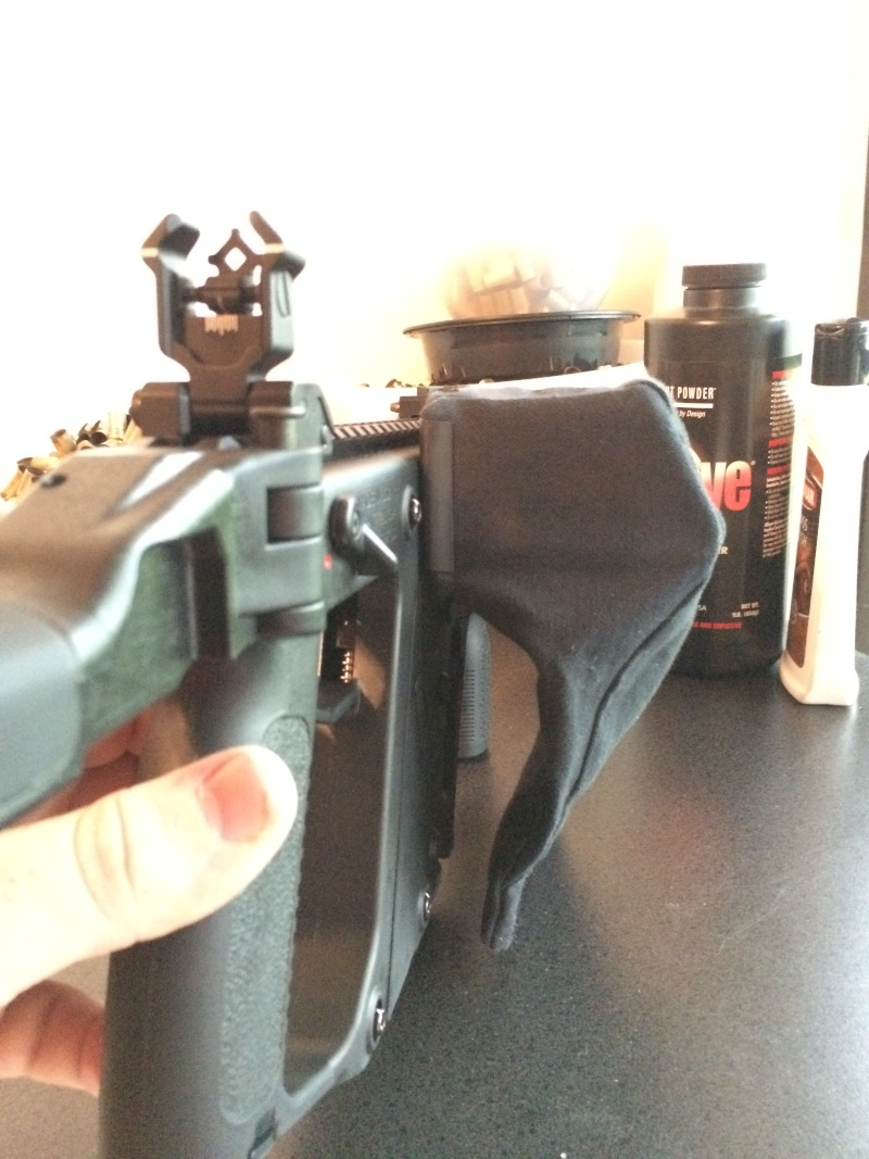 AR flattop brass catcher fits perfectly on the Kriss! Pictur11