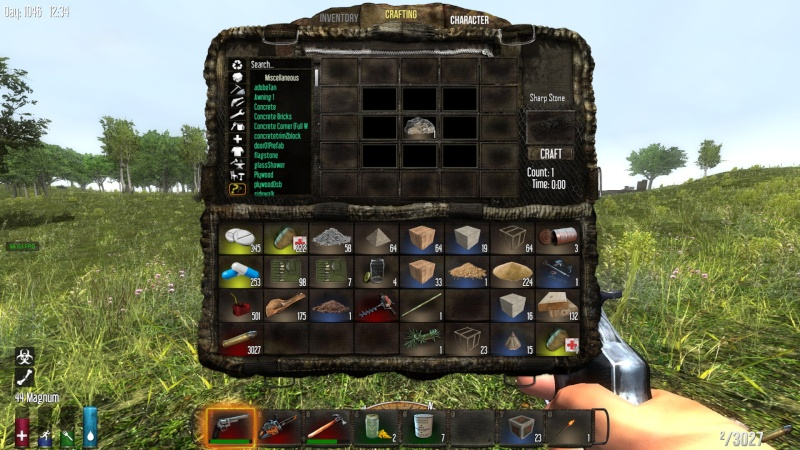 First step: How to craft a stone axe !!!!!! 2014-124