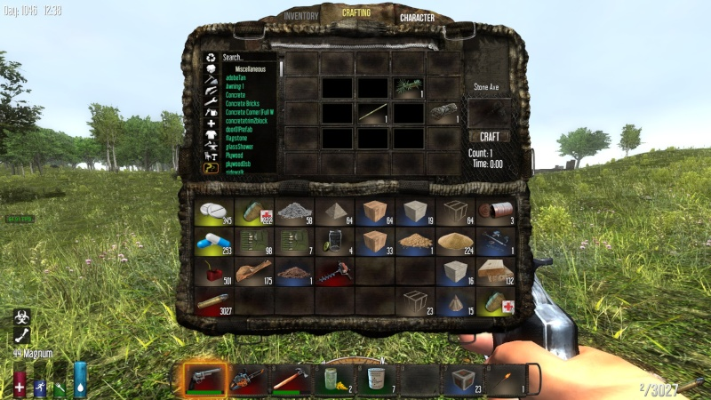 First step: How to craft a stone axe !!!!!! 2014-125