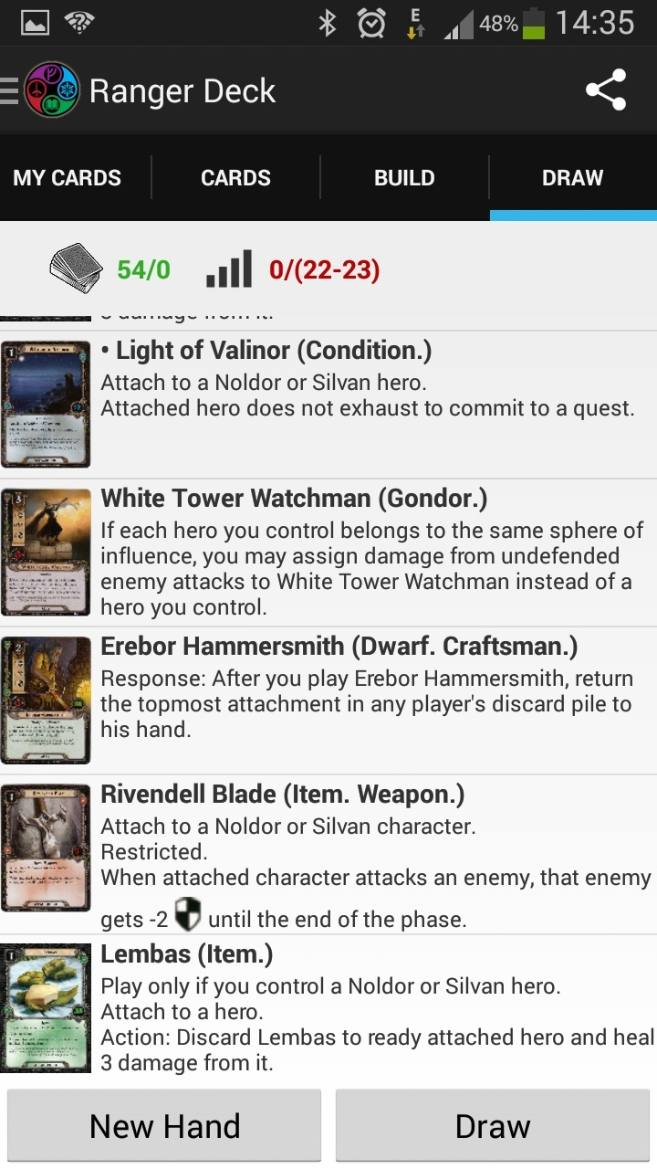 LoTR DeckBuilder - Application Android (disponible voir page 8) Draw11