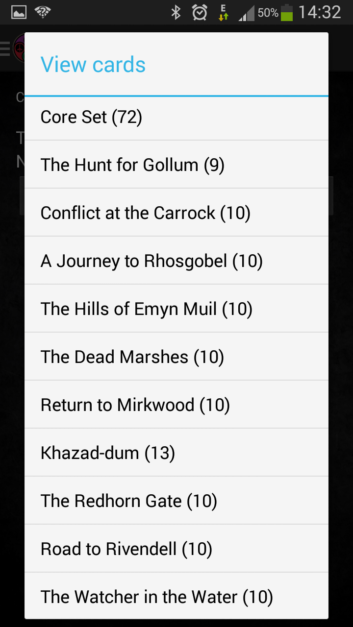 LoTR DeckBuilder - Application Android (disponible voir page 8) Listin10