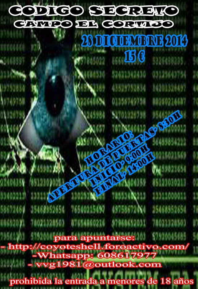 Codigo secreto, partida abierta 28.12.14 campo El Cortijo Codigo10