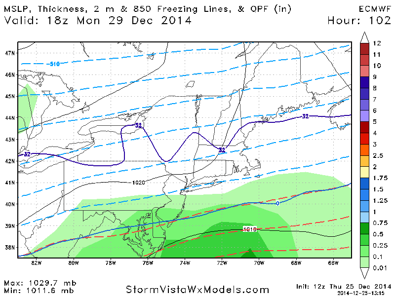 December 29th-30th Potential Overrunning event - Page 4 Ecmwf_11