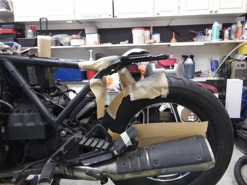 BMW K75 goes cafe racer 20141227